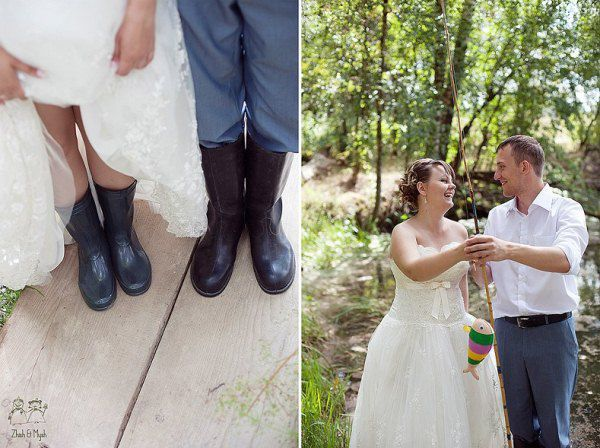 резиновые сапоги на свадьбе