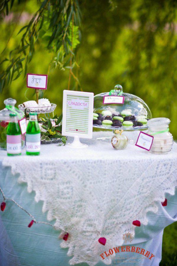 оформление зеленой свадьбы