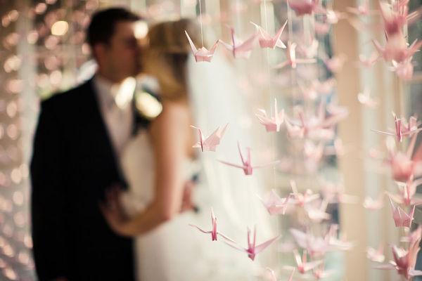 свадебное оригами