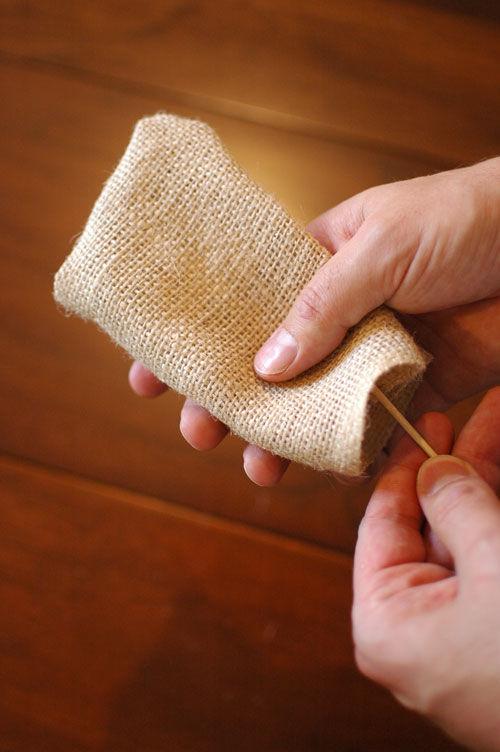 мешочек из мешковины сделать своими руками