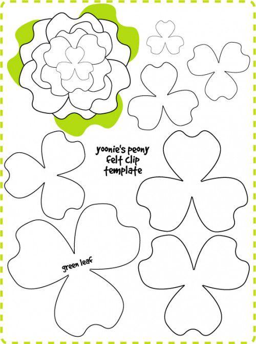выкройка цветка из фетра