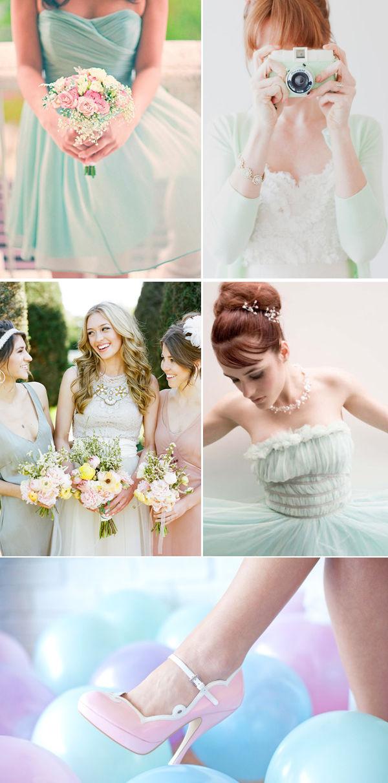 свадьба в мятных тонах