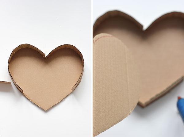 как сделать сердце из картона для фотосессии