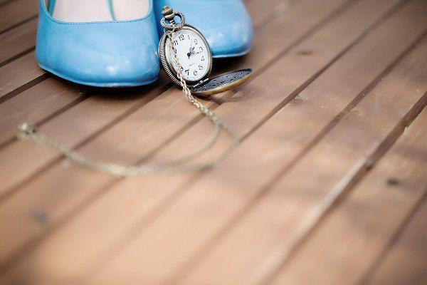 свадебные туфли голубые