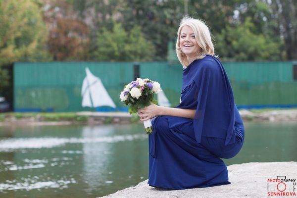 синее платье невесты