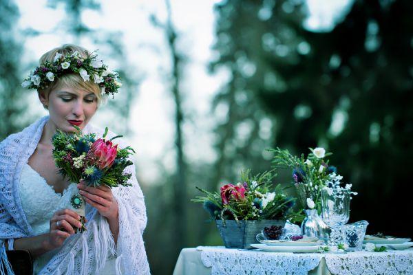 образ невесты в ирландском стиле
