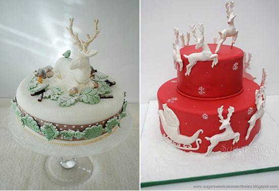 зимние варианты свадебных тортов