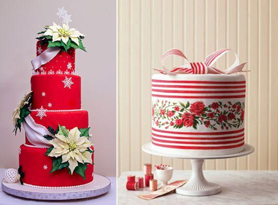 торты на свадьбу зимой