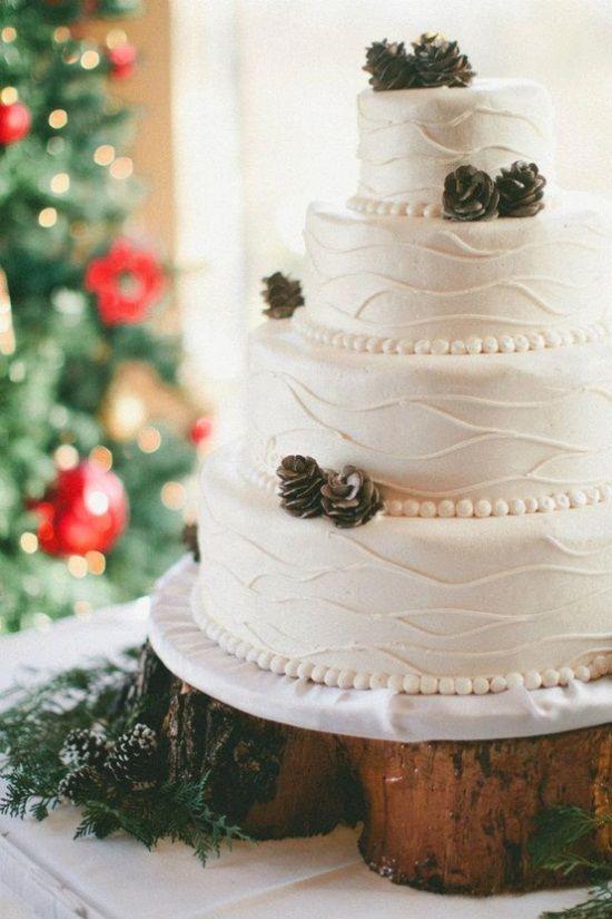 свадебные торты зима