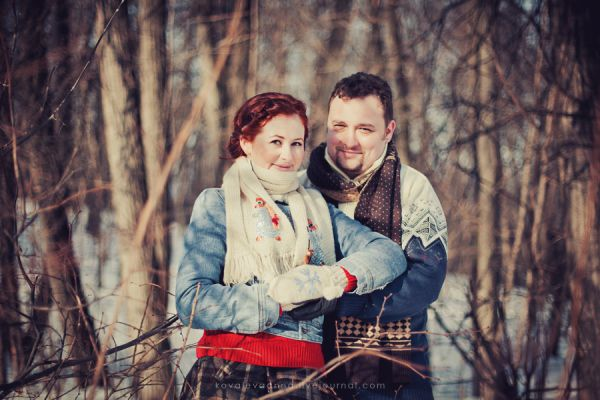зимняя фотосессия love story