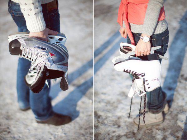 зимняя фотосессия на коньках