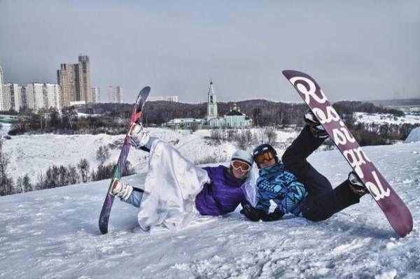 свадьба на сноуборде