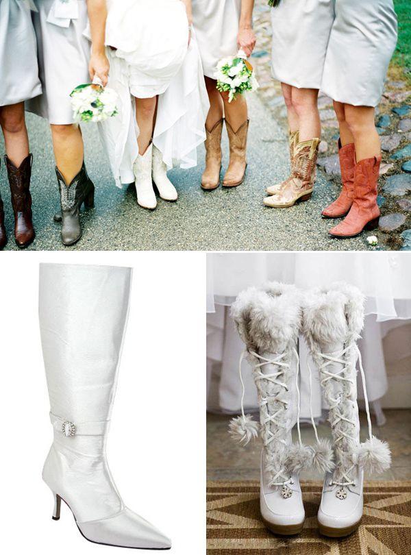 свадебная зимняя обувь для невесты