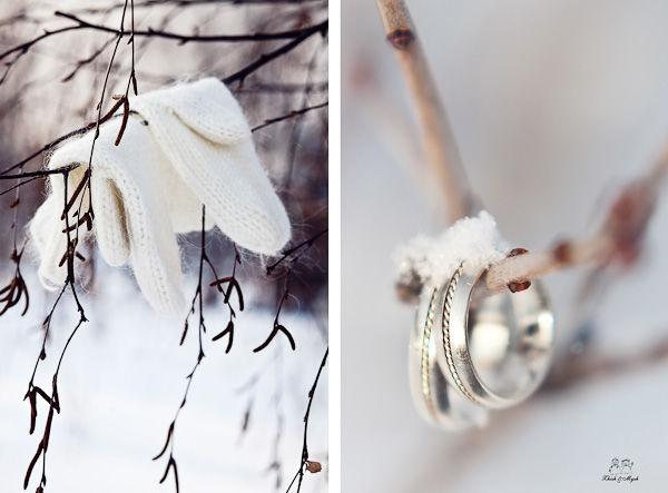 аксессуары для зимней свадьбы