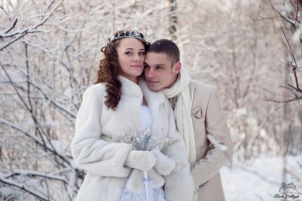 зимняя  фотосессия на свадьбу