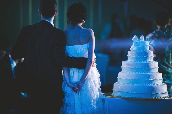 свадебный белый торт