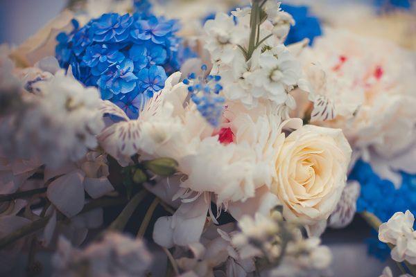 оформление свадьбы в голубом цвете