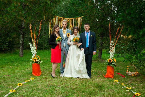 свадьба с подсолнухами
