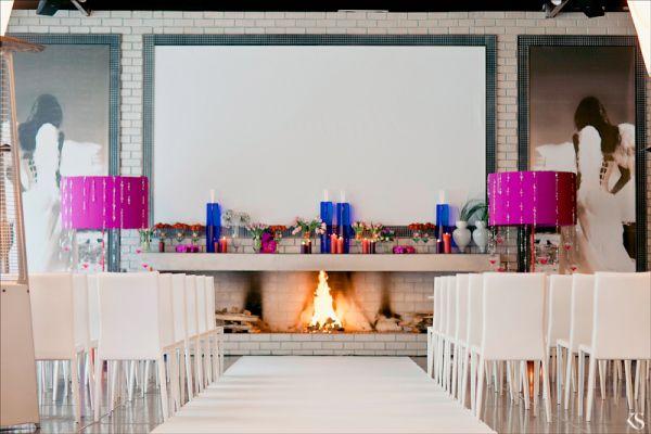 декор свадьбы синий и фиолетовый