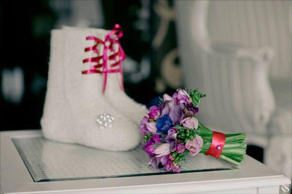 валенки на свадьбе