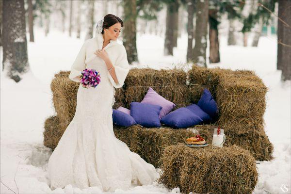 фотосессия в снегу
