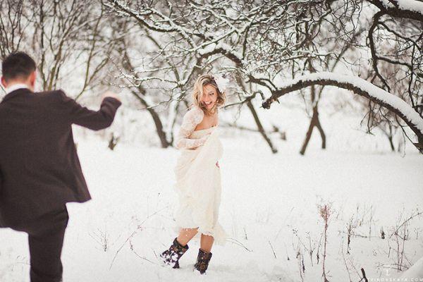 свадьба зимой на природе