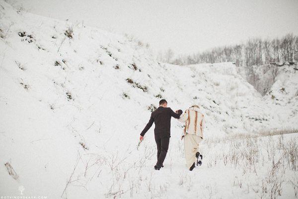 фотосессия зимой на природе