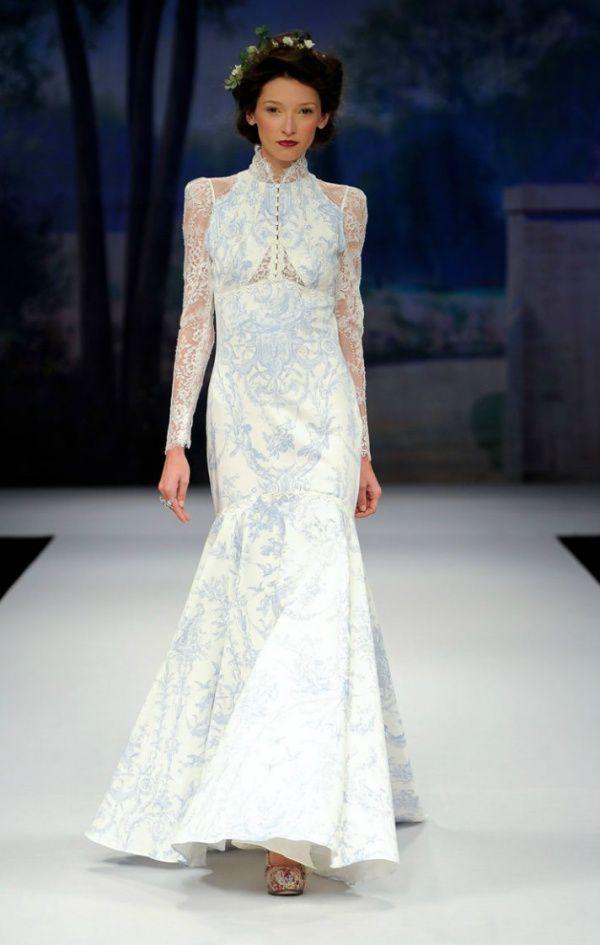 свадебное платье с узором