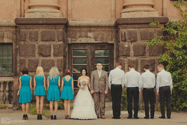 бирюзовая свадьба в стиле винтаж