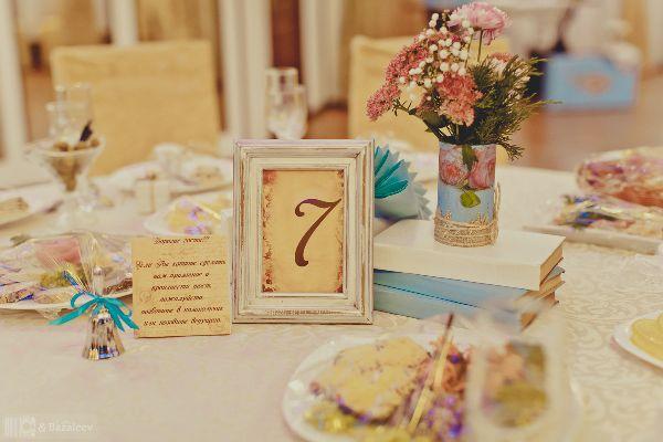 номера столов для оформления свадьбы