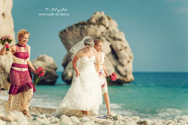 образ невесты на море