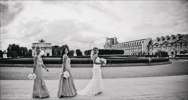 невеста и подружки невесты на француской свадьбе