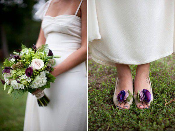 букет невесты и туфли