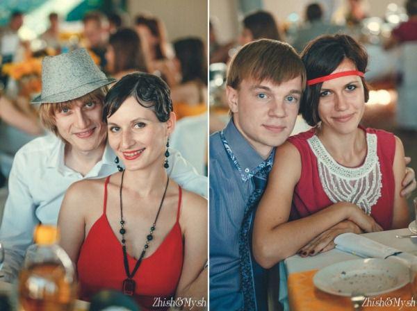 гости на свадьбе в стиле ретро