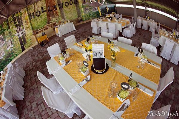 оформление желтой свадьбы