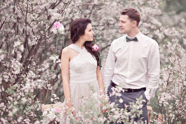 свадьба шебби шик весной