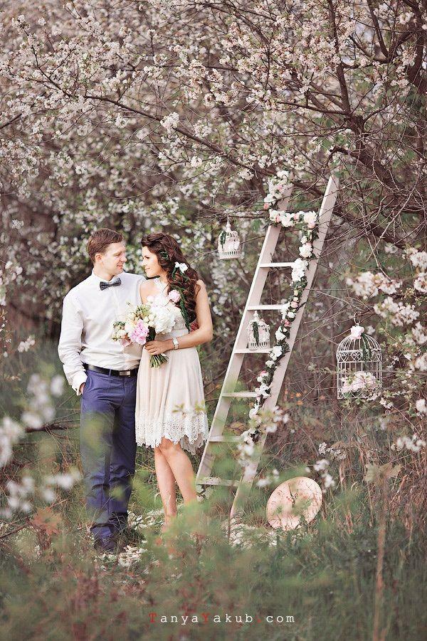 свадьба весной шебби шик