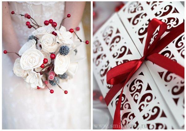свадебные приглашения зимой