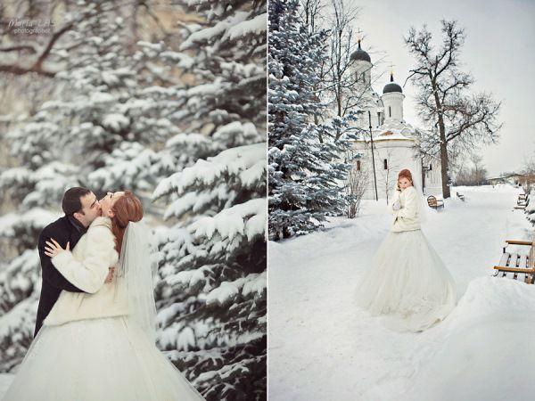 зимняя классическая свадьба