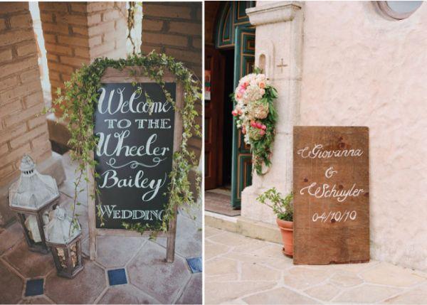 меловая доска в декоре свадьбы