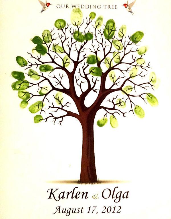 дерево пожеланий на свадьбе