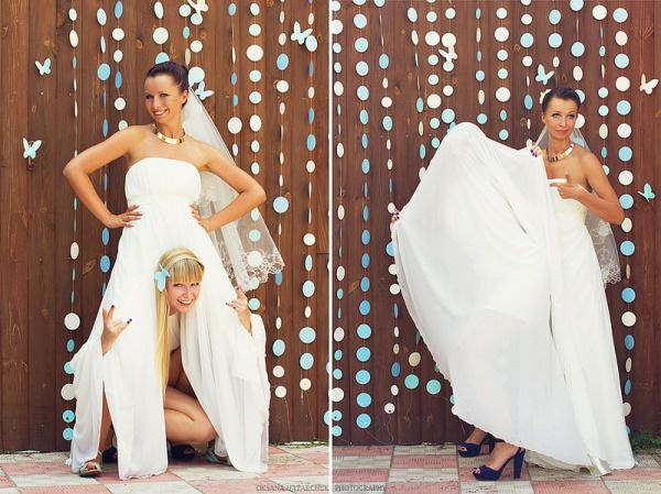 фотосессия невесты с подружками
