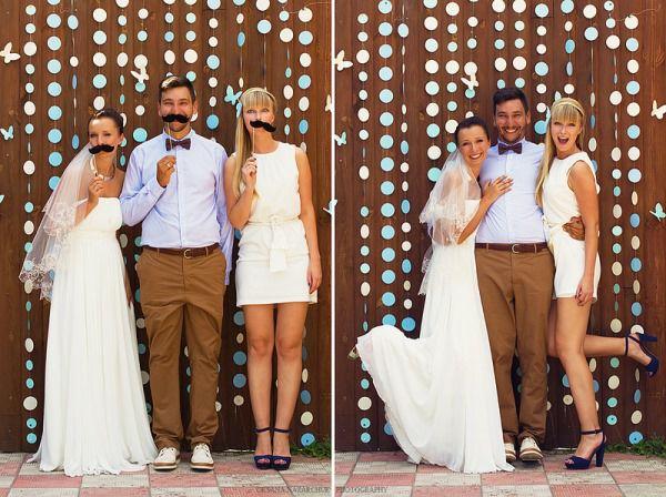 фотосессия с гостями на свадьбе