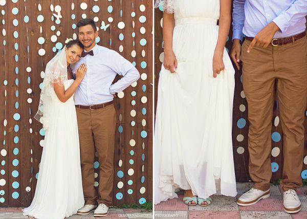 образ невесты и жениха на летней свадьбе