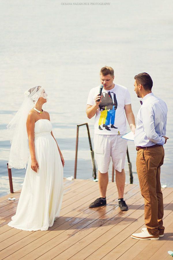 выездная регистрация свадьбы на берегу реки