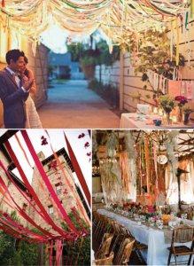 оформление свадьбы лентами
