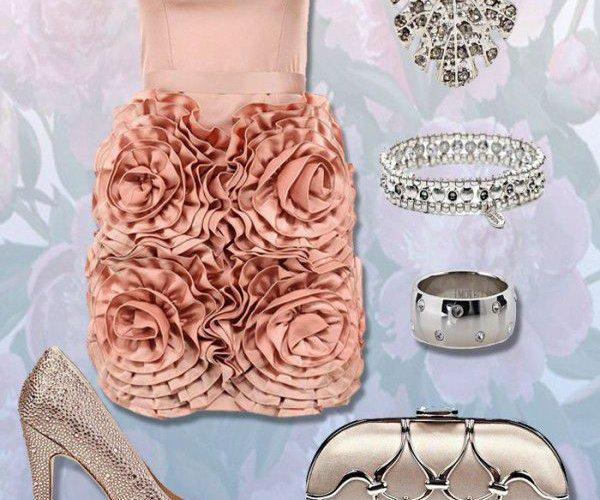 розовое платье подружки невесты