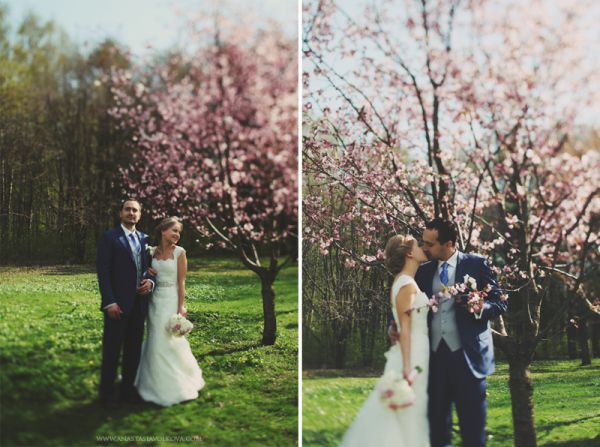 весенняя свадебная фотосессия