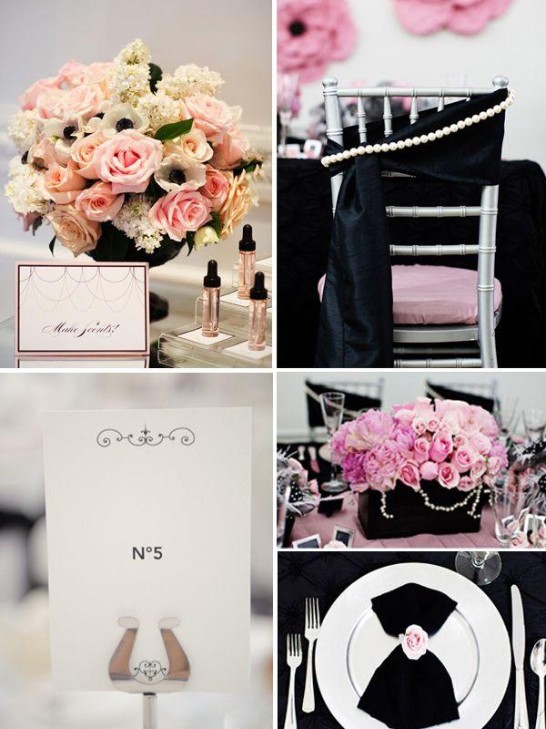 оформление свадьбы в черно и белом