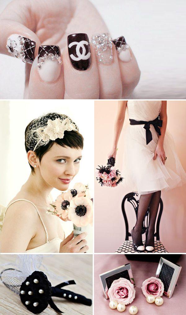 свадьба в стиле Шанель